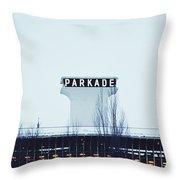 Parkade - Downtown Spokane Throw Pillow