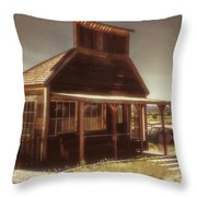 Parked At The Mercantile Throw Pillow