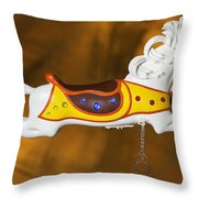 Parker Flying Carousel Horse 1 Throw Pillow
