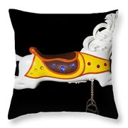 Parker Flying Carousel Horse 2 Throw Pillow