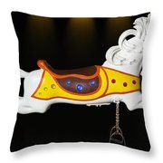 Parker Flying Carousel Horse 3 Throw Pillow