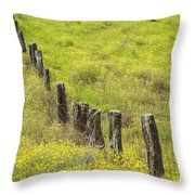 Parker Ranch Fence Throw Pillow