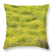 Parker Ranch Field Of Yellow Throw Pillow