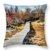 Parker River Nwr Boardwalk Throw Pillow