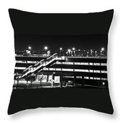 Parking Garage At Night Throw Pillow