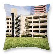 Parking Garage Throw Pillow