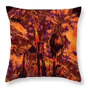 Parking Lot Palms 1 11 Throw Pillow