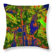 Parking Lot Palms 1 15 Throw Pillow