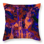 Parking Lot Palms 1 18 Throw Pillow