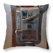 Parking Meter Change Throw Pillow