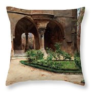 Parkland In Paris Throw Pillow
