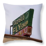 Park's Fly Shop Throw Pillow
