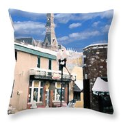 Parkville In Winter Throw Pillow