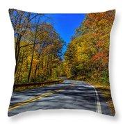 Parkway Road Nc Throw Pillow