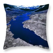Parlament Blue Reservoir Throw Pillow