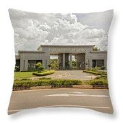 Parliament Building In Lilongwe Throw Pillow