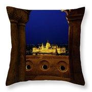 Parliament Framed Throw Pillow