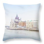 parliament in  Budapest Throw Pillow