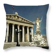 Parliament In Vienna Austria Throw Pillow