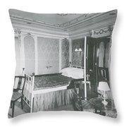 Parlour Suite Of Titanic Ship Throw Pillow