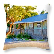 Parmer's Resort Cottage In Keys Sunset Glow Throw Pillow