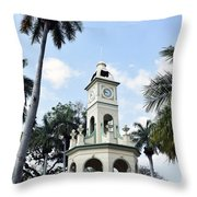 Parque Central Ahuachapan El Salvador Throw Pillow