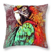 Parrot Art 09i Throw Pillow