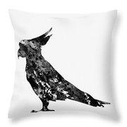 Parrot-black Throw Pillow