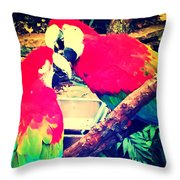 Parrot Couple Throw Pillow