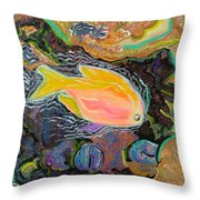 Parrot Fish Are Transgendered  Throw Pillow