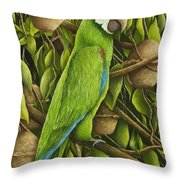 Parrot In Brazil Nut Tree Throw Pillow