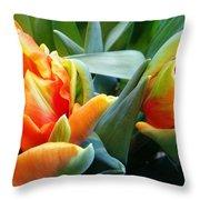 Parrot Tulip Throw Pillow