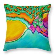 Parrotfish 2 Throw Pillow