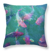 Parrotfish Of The Keys Throw Pillow