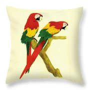 Parrots Throw Pillow