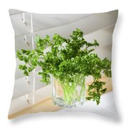 Parsley Bouquet Throw Pillow