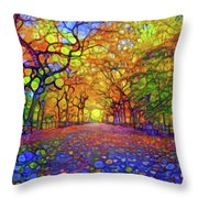 Park In Autumn Throw Pillow