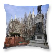 Part Of Temple Square Throw Pillow