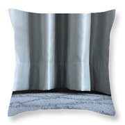 Part Of The Base Of An Interior Curtain  Throw Pillow