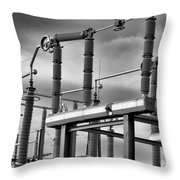 Part Of The Grid Throw Pillow by Bob Orsillo