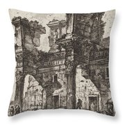 Parte Di Foro Di Nerva Throw Pillow