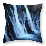 Partial Side View Of Burney Falls Ca Throw Pillow