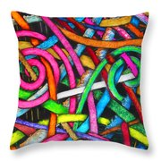 Particle Track Forty-one Throw Pillow