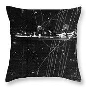 Particles Pass Through Lead Shielding Throw Pillow