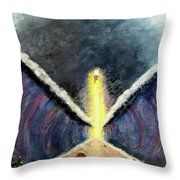 Parting Of Red Sea Throw Pillow