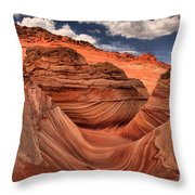 Partly Cloudy At The Wave Throw Pillow