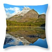 Partly Cloudy Fishercap Reflections Throw Pillow