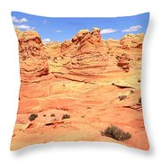 Partly Cloudy Over Coyote South Throw Pillow