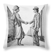 Partners In Victory Throw Pillow