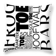 Parts Of Hoof And Foot Throw Pillow